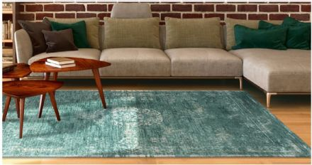 Louis De Poortere Fading World Collection Rug - Medallion Jade 8258